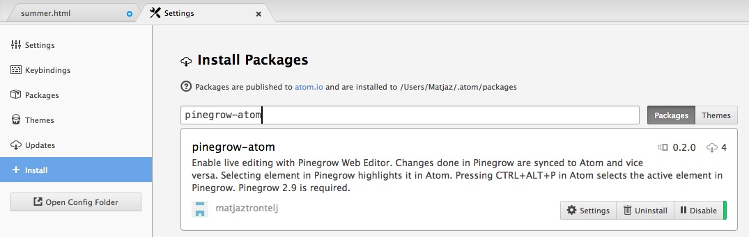 Atom and Pinegrow Web Editor, the Perfect IDE for the Web