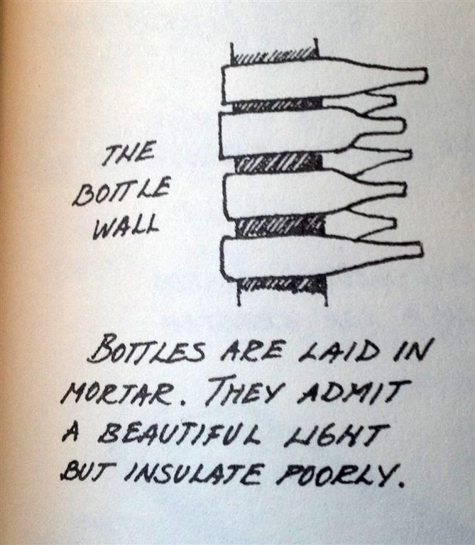 Earth bottle wall