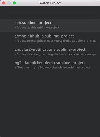 เปิด project ใน sublime text