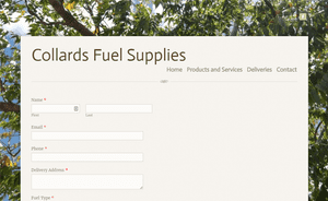 Desktop screenshot of Collards Fuel Supplies
