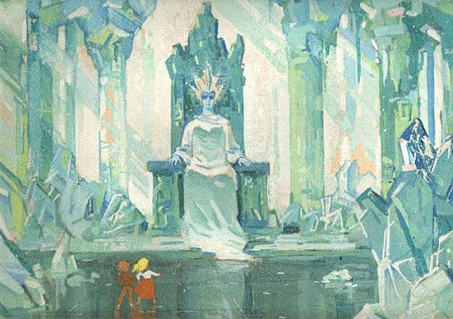 Кай и Герда перед Снежной королевой. Фото: www.museikino.ru