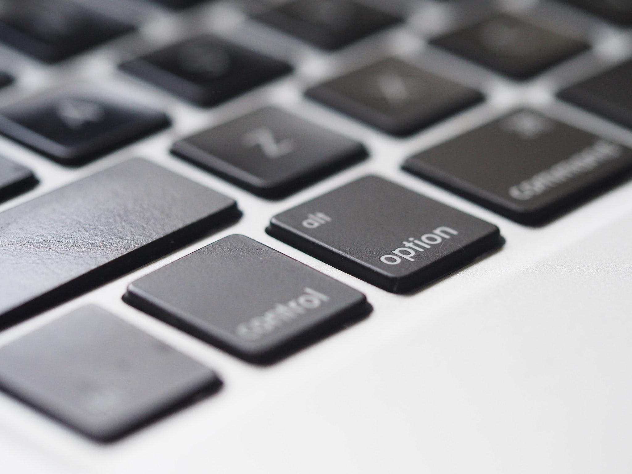 Closeup of MBP Keyboard