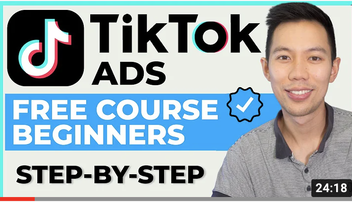 TikTok Ads step-by-step free course for beginners.