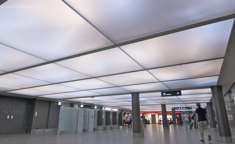 Fabric And Synthetic Leather False Ceilings intrior.com