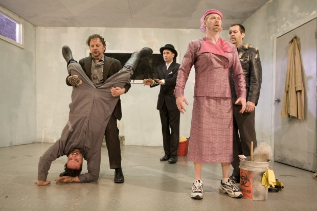 Tony Nappo, David Ferry, Alon Nashman, Geoff Pounsett, and Paul Braunstein in Alias Godot.