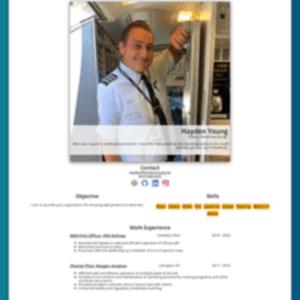 Hayden's Resume Site