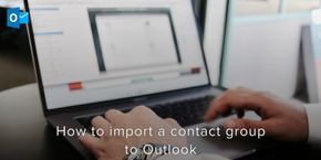 How to Import a Contact Group to Outlook