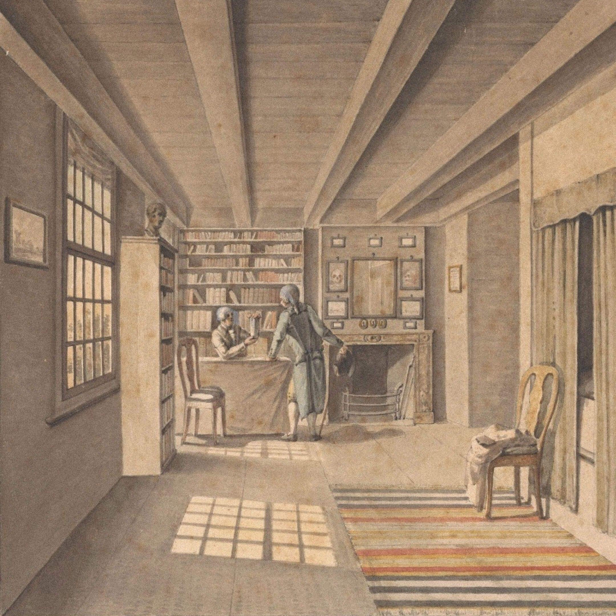 Книготорговец вкнижном магазине. Неизвестный художник. Амстердам, 1850. Источник: etoretro.ru