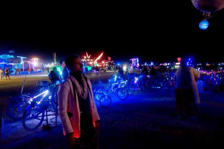 Burning Man White Suit Glow