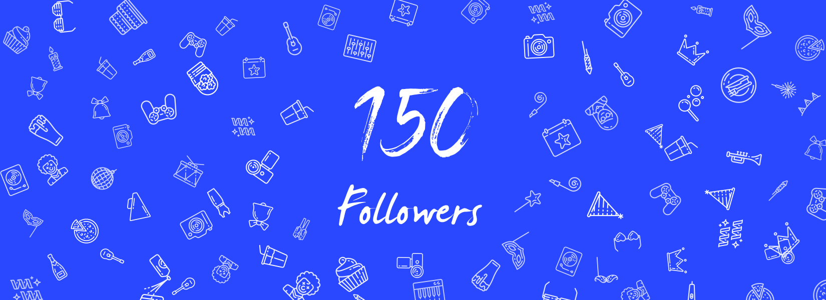 We've hit 150 Followers!
