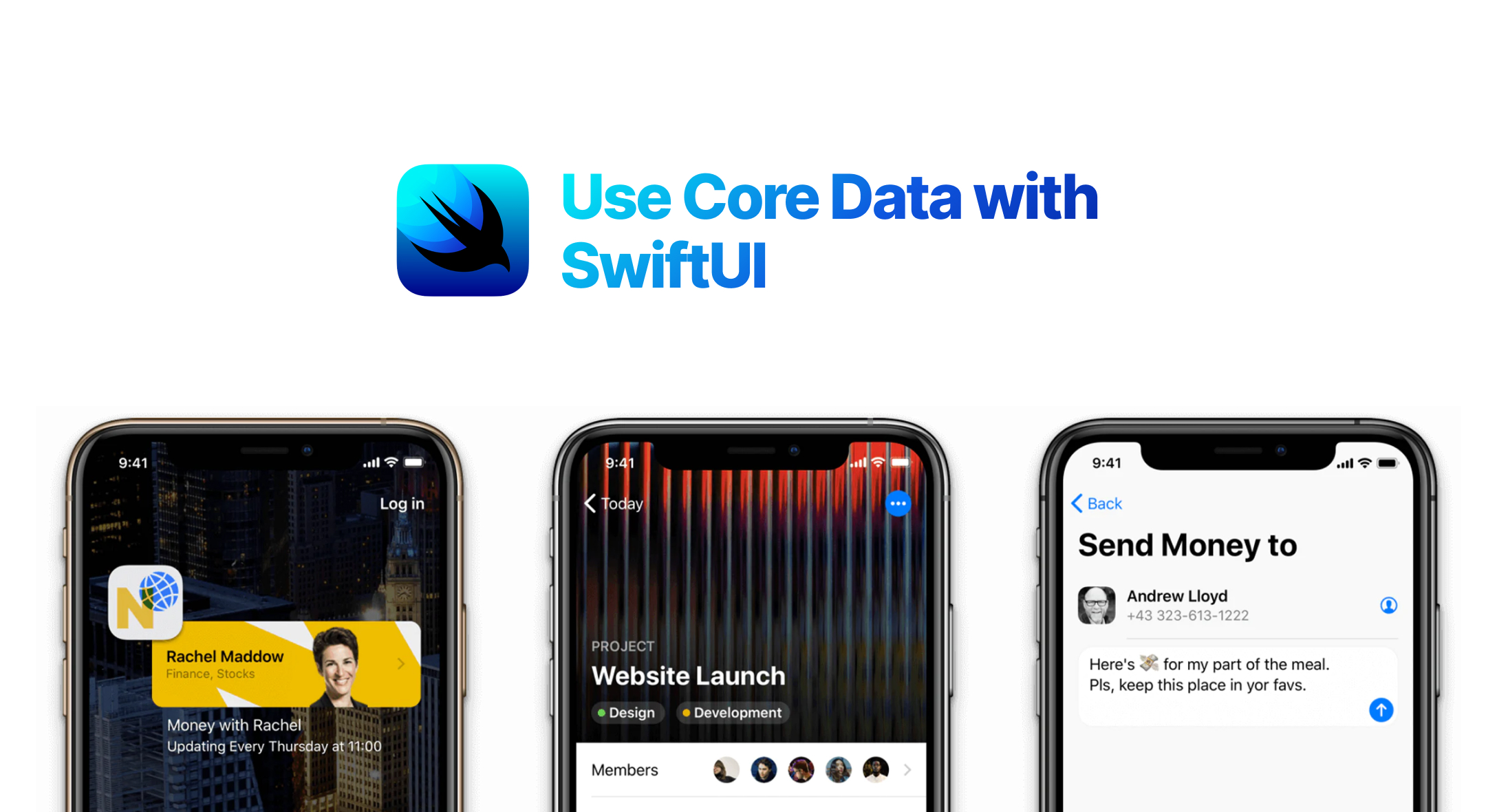 Use Core Data with SwiftUI