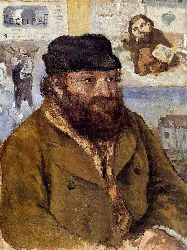Pissarro's portrait of his friend Paul Cezanne.