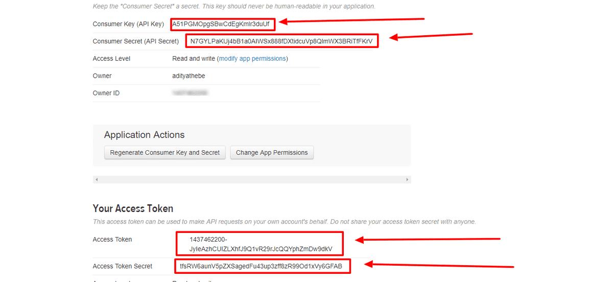 Grab the API Keys