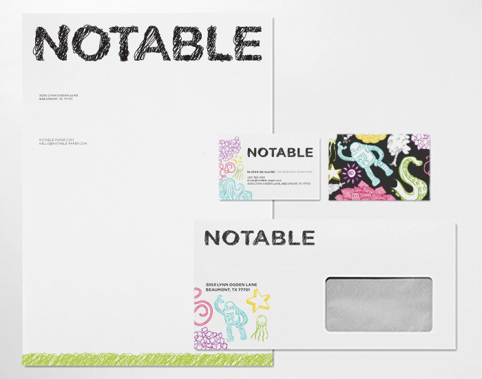 Notable branding collateral