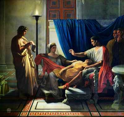 Virgil reading The Aeneid before Augustus, Octavia and Livia (1812, later reworked) by Ingres, Toulouse, Musée des Augustins