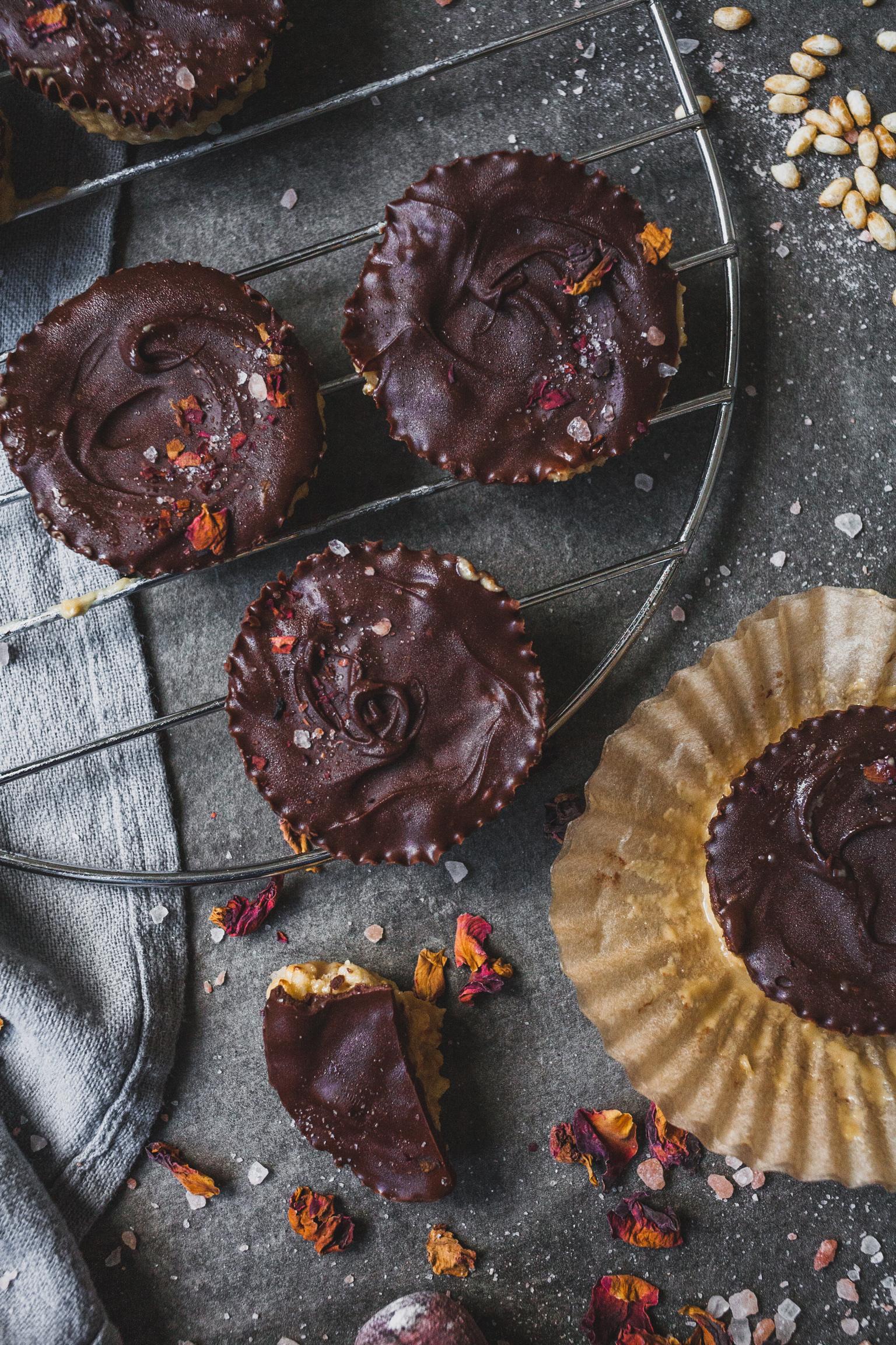 Crispy Chocolate Tahini Cups