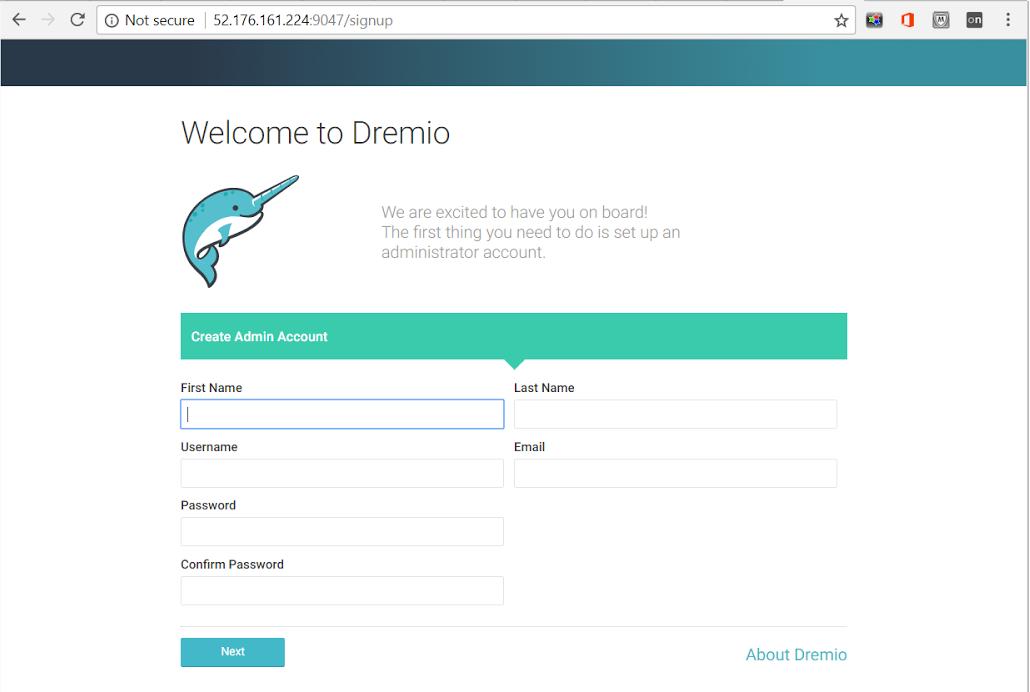 Connecting to Dremio
