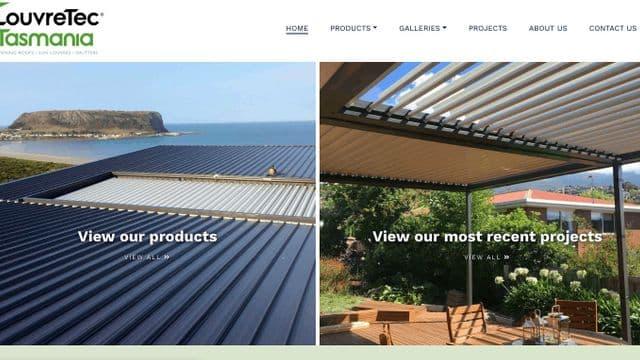 Screenshot of Louvretec tasmania homepage