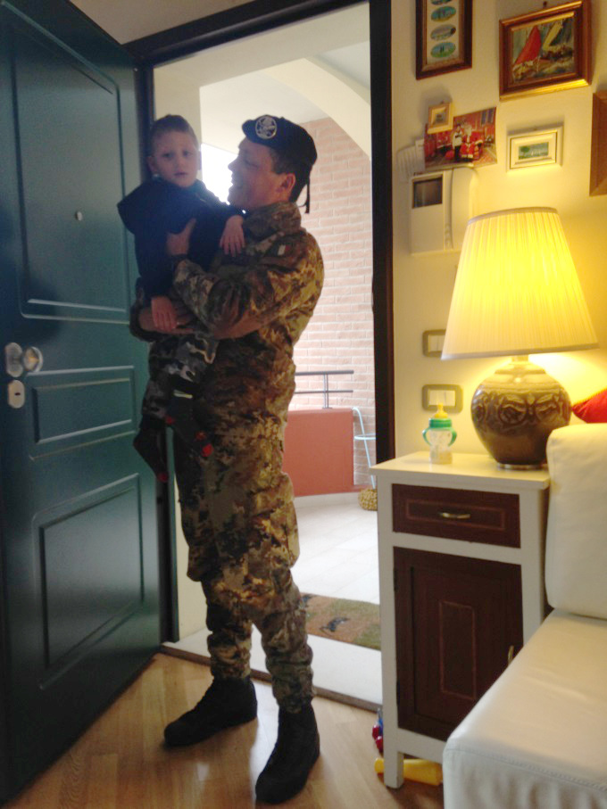Diego Being Held By His Dad