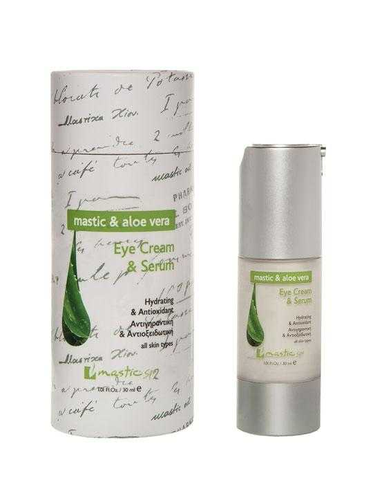Eye cream & serum with aloe and mastic – 30ml