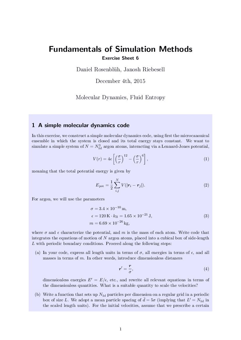 Numerical Simulations | janosh io