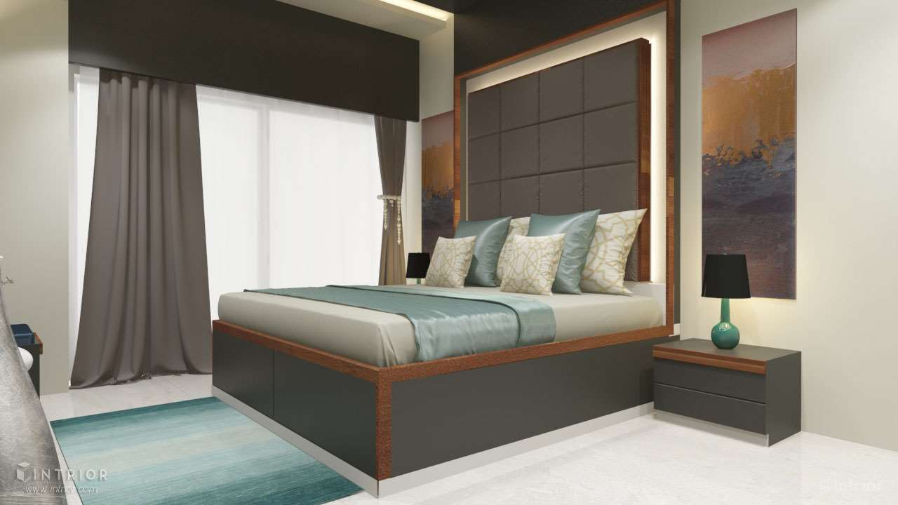Master Bedroom - Bed With Paneling