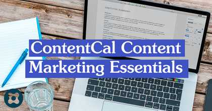 ContentCal Content Marketing Essentials image
