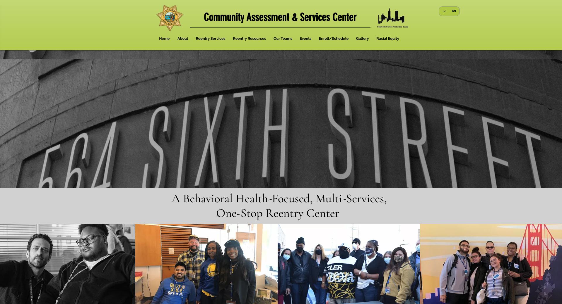 SF CASC Website Screenshot