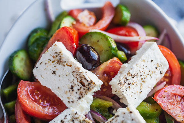 Classic Greek Village Salad (Horiatiki)
