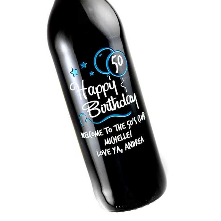 happy birthday bottles