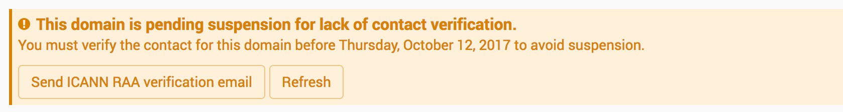 ICANN resend email verification
