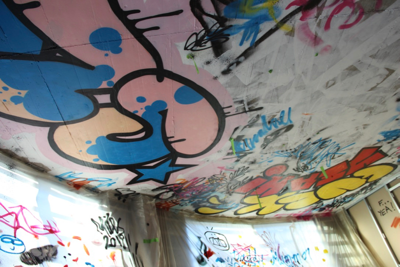 slg-graffiti-ceiling-commission-cheltenham-slg-piece