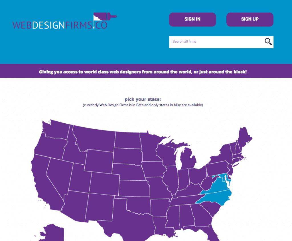 Web Design Firms Screen Shot