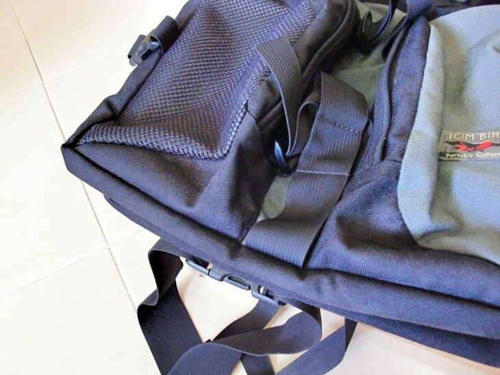 TOM BIHN Brain Bag right front pocket hole repaired