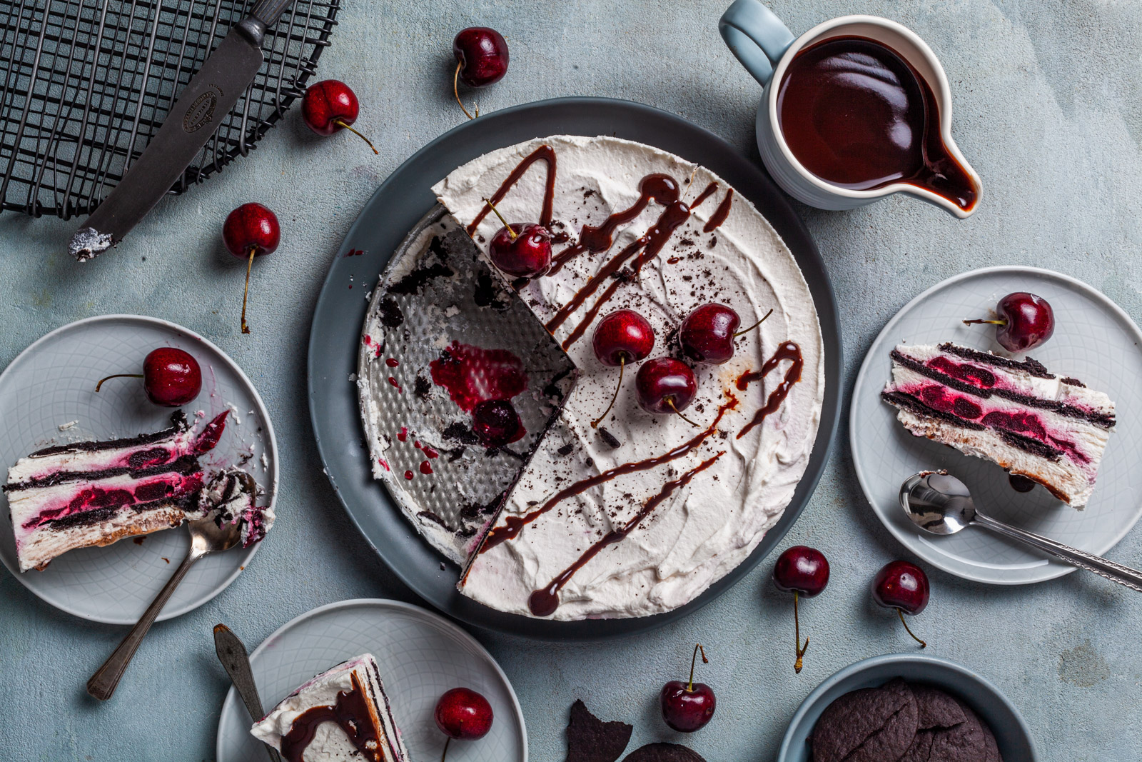 No Bake Black Forest Icebox Cake