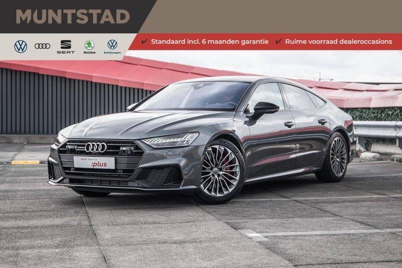 Audi A7 Sportback 55 TFSI e 367 pk Quattro Competition | Verlengde garantie | 2 x S-Line | Nachtzicht-assistent | panorama dak | Head-up display | Trekhaak | 360 camera | Stoelverwarming vóór en achter | afbeelding 1