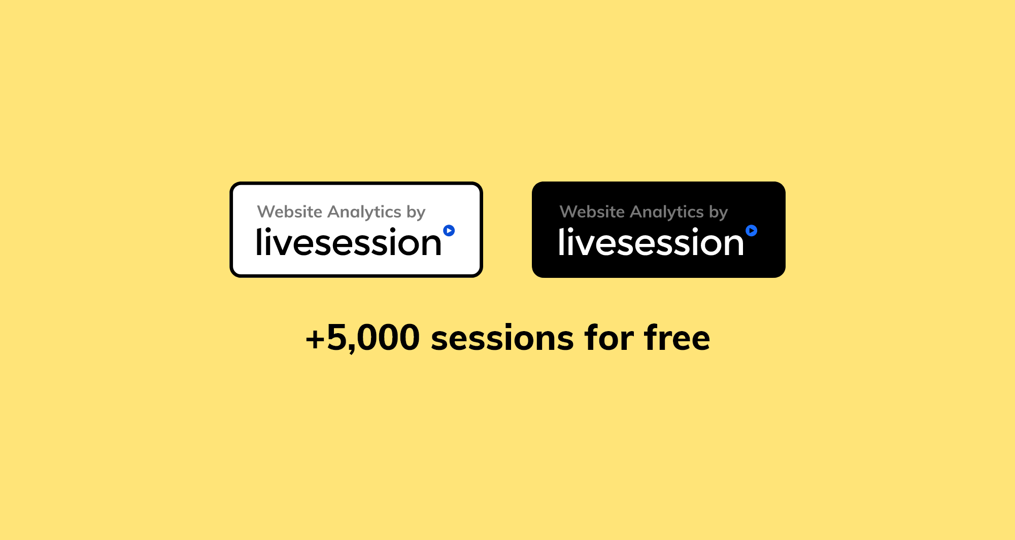 Two versions of LiveSession badges.