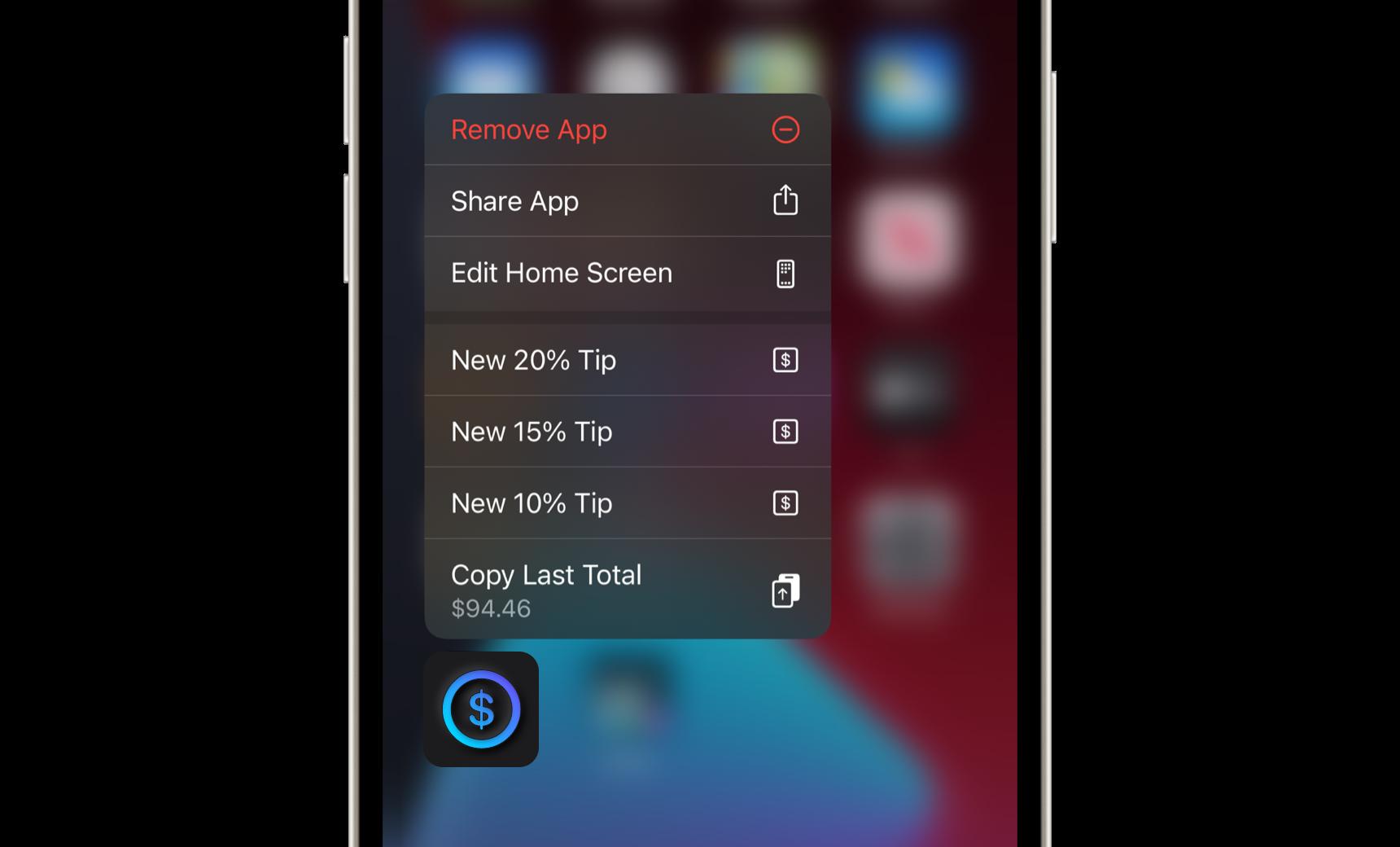 Tip App - Shortcut Actions