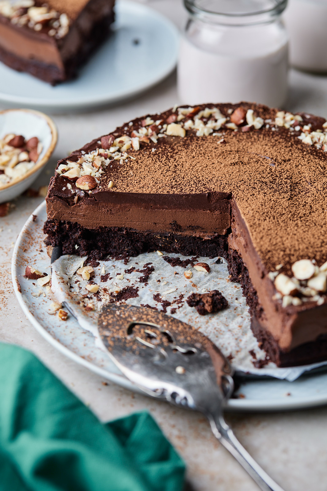 Chocolate Brownie Mousse Cake