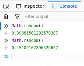 random function in javascript
