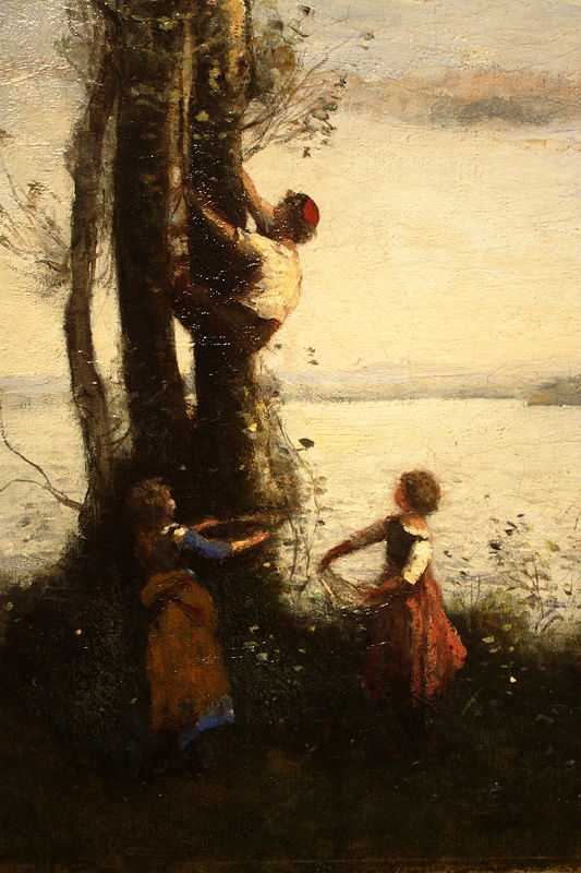 The Little Bird Nesters, by Camille Corot ca. 1873–1874