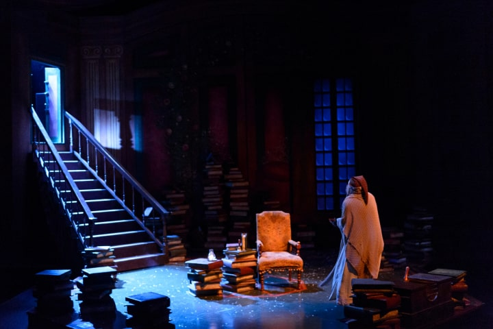 """Robert Thomson's lighting design for the production of """"A Christmas Carol"""" at the Citadel Theatre"""