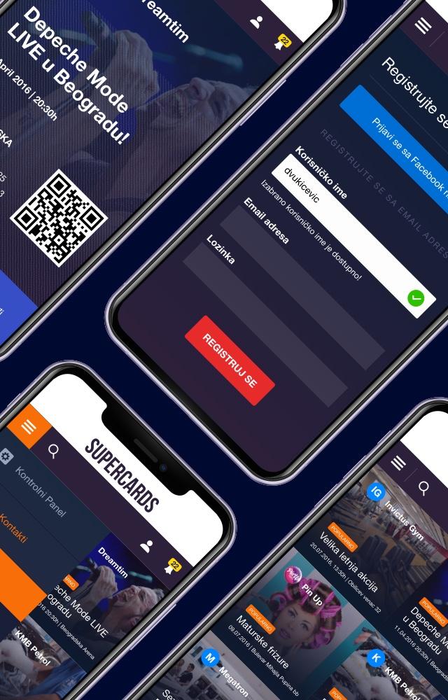 Supercards UI design