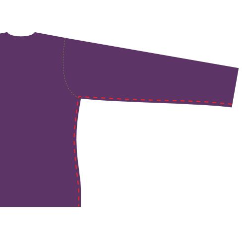 Close the side/sleeve seams