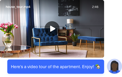Send virtual visit videos