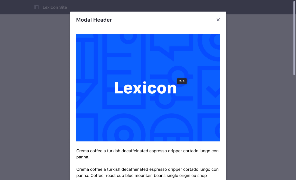 Dynamic size modal without footer