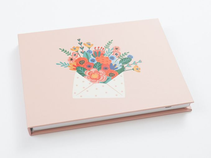Heirloom book with flowers cover