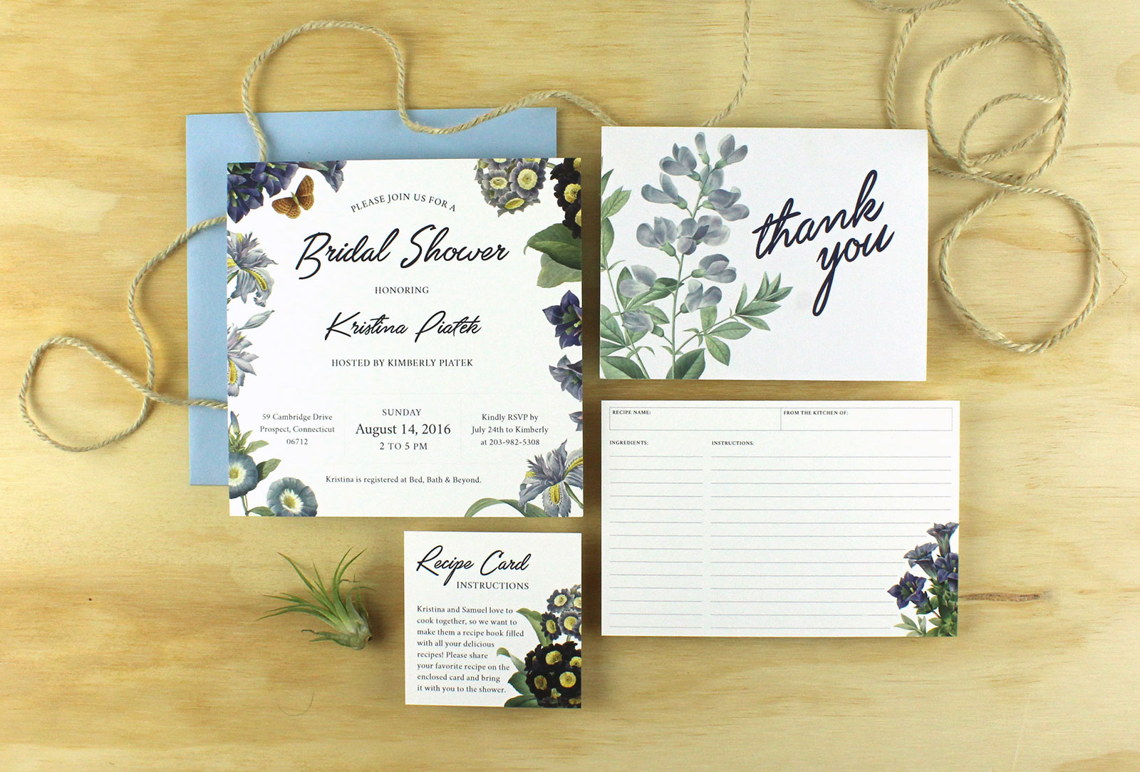 Kristina's bridal shower invitations