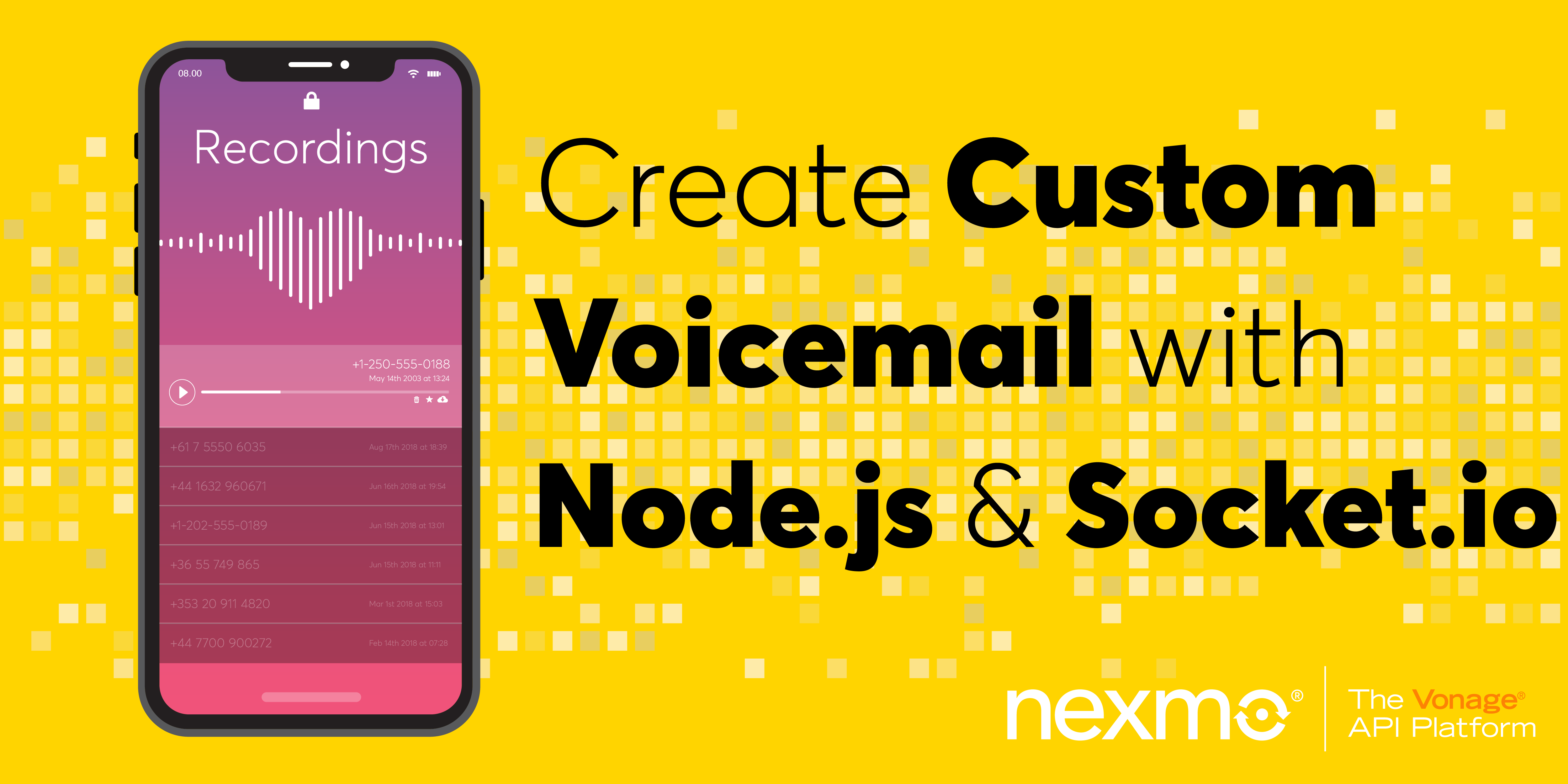 Create Custom Voicemail with Node.js, Express and Socket.io