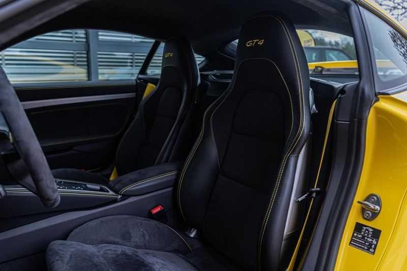 Porsche 718 Cayman GT4 4.0, 420 PK, RacingGelb, Sport/Chrono, Camera, 18/Way, 2900 KM, 2020, BTW!! afbeelding 15